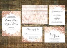 Printable Rose Gold Foil Wedding Invitation By Thewoolberrypress