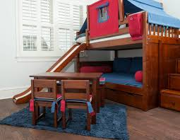 Kids Bunk Bed With Slide Bunk Bed And Slide Kids With I Nongzico