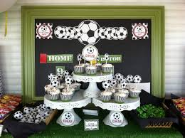interior design amazing soccer themed birthday party decorations