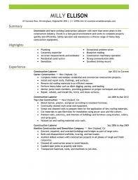 Construction Worker Job Description For Resume Laborer Awesome Fresh