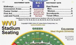 Wvu Stadium Seating Chart 29 Logical Wvu Football Seating Chart