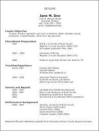 Music Resume Template Impressive Musician Resume Template Musician Resume Sample Music Resume For