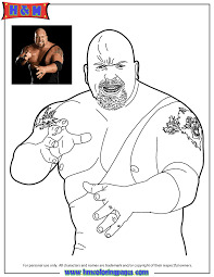 Small Picture WWE Wrestling The Big Show Coloring Page H Amp M Coloring Pages