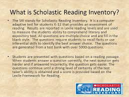 Using The Scholastic Reading Inventory As An Instructional