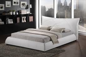 modern platform bed king. Baxton Studio BBT6325-White-King - Corie White Modern Platform Bed King Size L