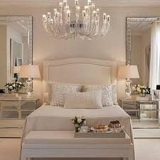 Luxury bedroom furniture mirrored night stands white headboard