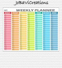 Day Planner Hourly Hourly Weekly Planner Printable Daily Planning Printable Etsy