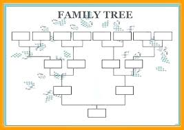Blank Family Tree 4 Generations Family Tree Printable Template Template For A Family Tree