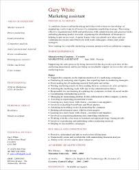 Marketing Assistant Resume Beauteous 60 Sample Marketing Assistant Resumes Sample Templates