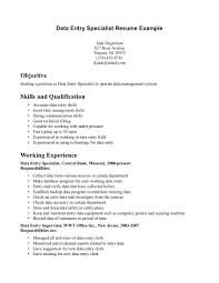 Resume For Data Entry Position Resume For Study