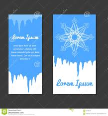set of winter template place for text for flyers coupons set of winter template place for text for flyers coupons