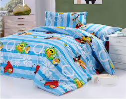 full and queen blue angry birds quilt cover and sheet boys