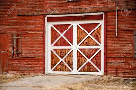 red and white barn doors. A Wooden Red Barn Door With White Trim In Late Afternoon Light Colorado Stock Photo And Doors L