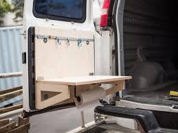 van with empty kitchen
