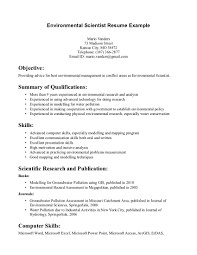 Resume Environmental Services Resume