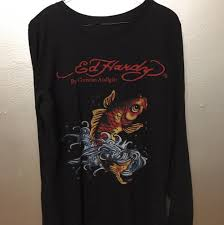 Ed Hardy Fish Design Ed Hardy Heads Heads Up This Is For U I Love This Depop