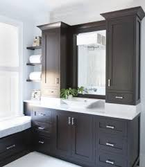 bathroom cabinetry ideas. kitchens by deane - bathrooms espresso cabinets, bathroom vanity, single white marbl. cabinetry ideas r