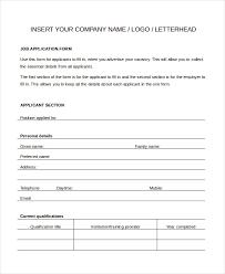 Generic Blank Job Application Generic Job Application 8 Free Word Pdf Documents Downlaod