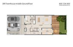 townhouse floor plans. 3 Bedroom Townhouse Middle - Mudon Arabella Ground Floor Plans