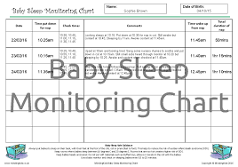 Sleep Chart Template Baby Sleep Monitoring Chart Mindingkids