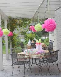 Tissue Balls Party Decorations Creative Party Decor on a Budget Tissue Ball Pom Poms 27
