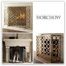 horchow fireplace screen designs