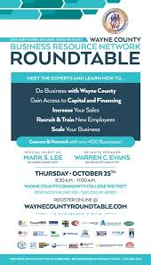 wayne county business resource network roundtable event