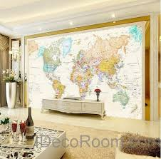 wonderful world map home decor for colorful hd world map wallpaper wall decals wall art print