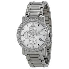 bulova diamond chronograph silver dial stainless steel men s watch bulova diamond chronograph silver dial stainless steel men s watch 96e03