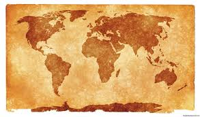 Grunge Textured World Map For Ppt Presentations Free Ppt
