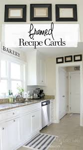 Framed Recipe Cards. Kitchen MatKitchen WallsDiy ...