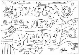 Small Picture Happy New Year Colouring Design Colouring Pages for Kids