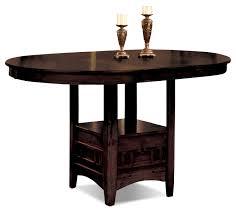 dalton chocolate counter height table