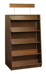 double sided oak bookcases or shelving display units