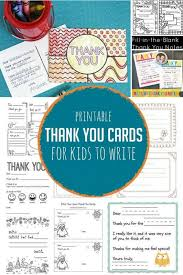 Free Printable Thank You Postcards Printable Thank You Cards For Kids To Write Hands On As We