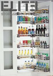 diy kitchen storage solutions renovations pull out pantry stainless steel