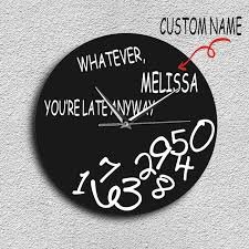 wall clocks for office. 1Piece Custom Name Personalised Whatever You\u0027re Late Anyway Wall Clock  Funny Modern Wall Clocks For Office