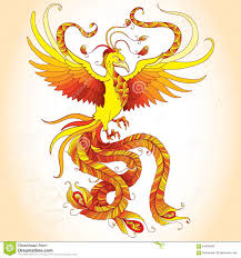 Mythical Phoenix Drawings