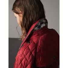 Quilted Trench Jacket with Detachable Hood in Dark Crimson - Women ... & Quilted Trench Jacket with Detachable Hood in Dark Crimson - Women |  Burberry United States - Adamdwight.com