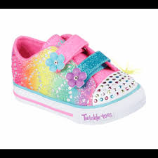 sketchers twinkle toe boots. skechers twinkle toes lil rainbow sneaker toddler/preschool multi/turquoise/pink sketchers toe boots