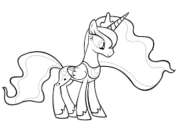 Coloring Pages Princess Celestia My Little Pony