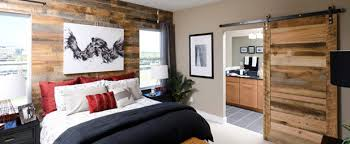 Reclaimed Wood Paneling Contemporary Bedroom