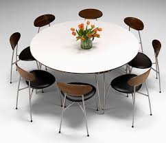 6 seat round dining table fancy charming interior model according to modern round dining table seats