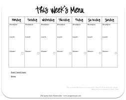 Printable Weekly Dinner Menu Weekly Dinner Menu Planner Template Bigminds Info