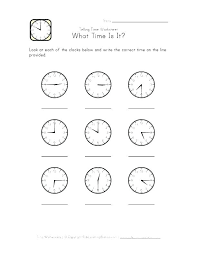 Telling Time Hour Clock Worksheets Learning Free Printable Grade ...