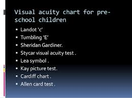 Distance Visual Acuity Chart Test Types Used In Optometry