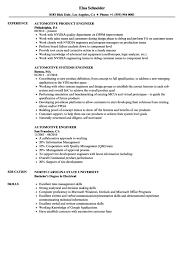 Automotive Engineer Resumes Automotive Sales Resume Resume Sample