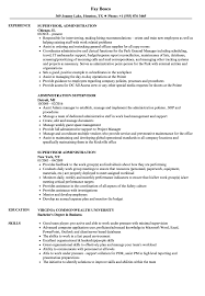 Admin Job Profile Resume Administration Supervisor Resume Samples Velvet Jobs