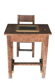 wood student desk wooden student desk and chair with slate stock photos image unfinished wood