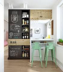 Small Home Bar - Chalkboard in bar. Image Source